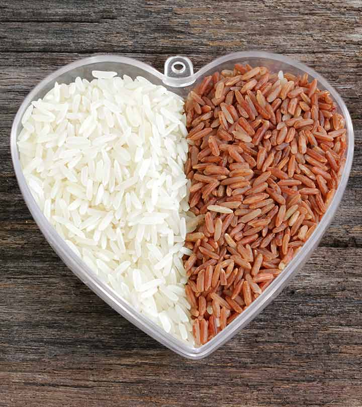 the fact of white rice and brown rice